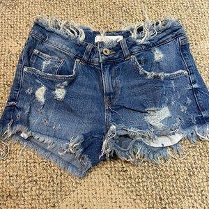 Zara denim shorts size 4